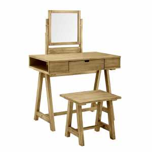 Rustic Farmhouse Vanity and Bench Set