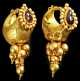 13453. Roman Elaborate Gold & Garnet Earrings