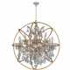 W83191MG33-GT ARMILLARY 13 LIGHT MATTE GOLD FINISH AND CLEAR CRYSTAL PENDANT