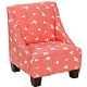 Wilson Kids Chair in Bird Silhouette Bittersweet