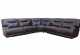 TEDDY POWER RECLINING SECTIONAL WITH INTERIOR ARMS