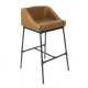 Cognac Upholstered Bar Stool- Model #CPFB1656C-29